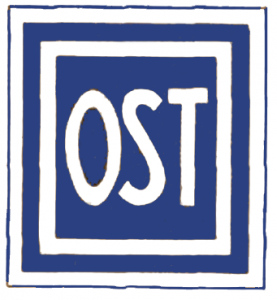 Forced laborers from Eastern European regions were forced to wear this patch on their clothing. (c) CC BY-SA, http://commons.wikimedia.org/wiki/File:Ostarbeiter-Abzeichen.png